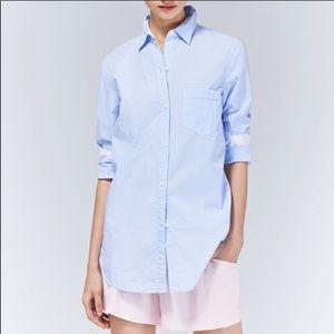 Aritzia Talula Windsor Pinstripe Button Up Shirt